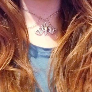 Bat choker necklace Halloween jewelry gift box